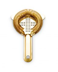 CTSN0001-GP Gold Plated Strainer With Crossed Apertures